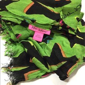 Betsey Johnson Green & Black scarf
